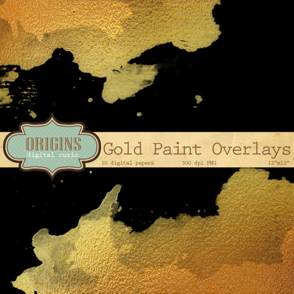 Gold Paint Overlays