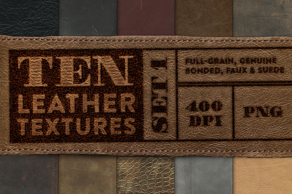 10 Leather Textures Set 1