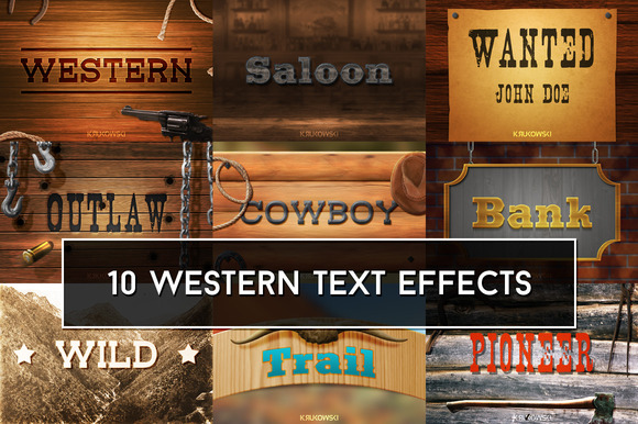 Western Text Effects