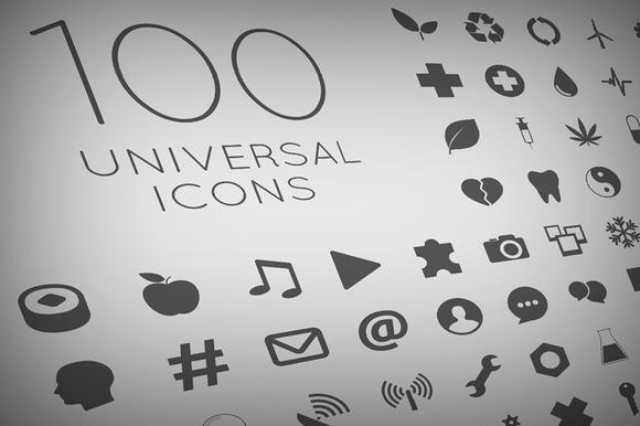 100 Vector Icon Set