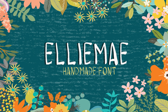Hand Drawn Font-Elliemae