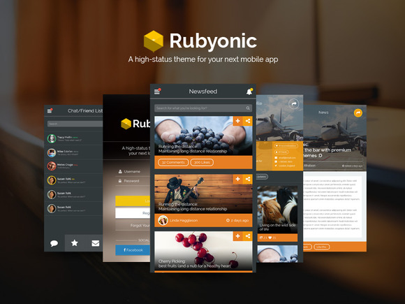 Rubyonic Mobile UI Pack