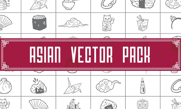 Asian Vector Pack