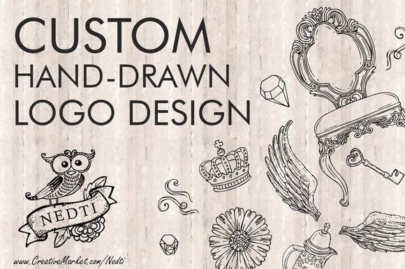 Custom Hand Drawn Logo By Nedti