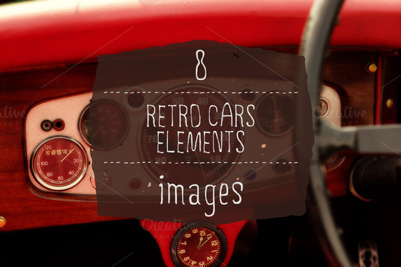 8 Retro Cars Elements