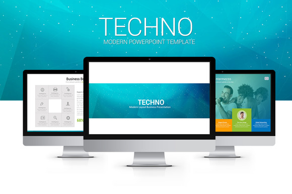 Techno Modern PowerPoint Template