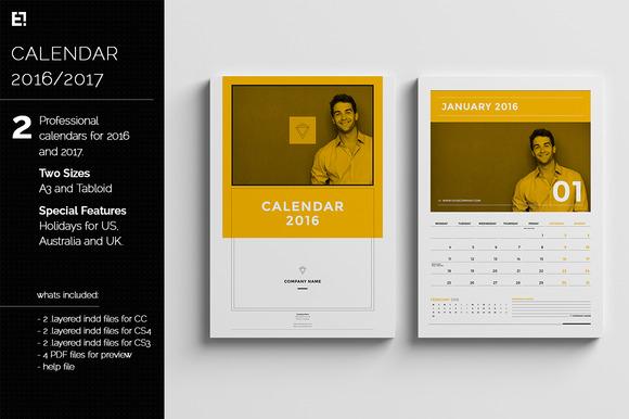 Calendar Templates For 2016 2017