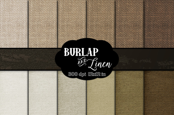 Natural Burlap Linen Digital Paper