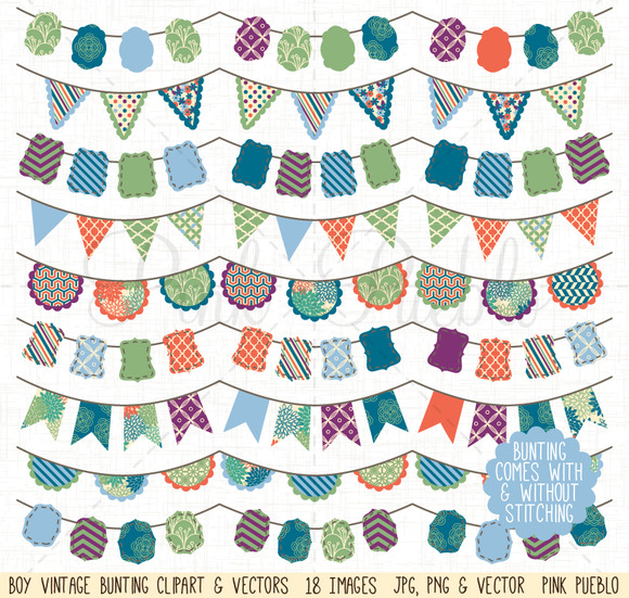 Boy Bunting Clip Art And Vectors