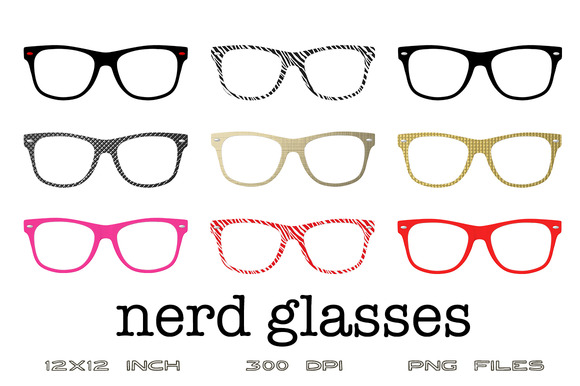 Digital Graphics- Nerd Glasses