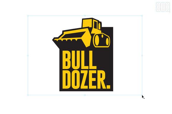 Bulldozer Logo Template