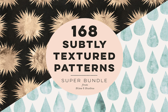 168 Subtly Textured Patterns Bundle