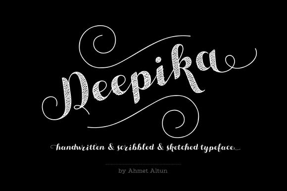 Deepika Font Intro Sale-35%OFF