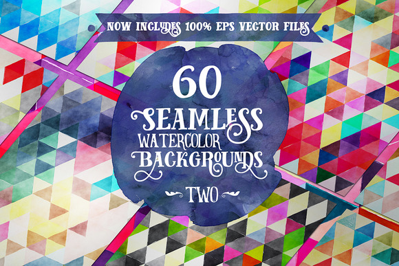 60 Seamless Watercolor Backgrounds 2