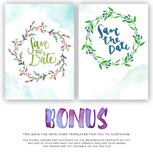 11 Save The Date Overlays BONUS