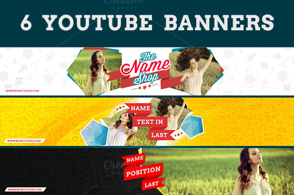 6 Youtube Banners