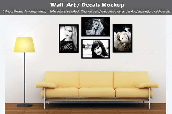Wall Art Decals Poster Mockup V2