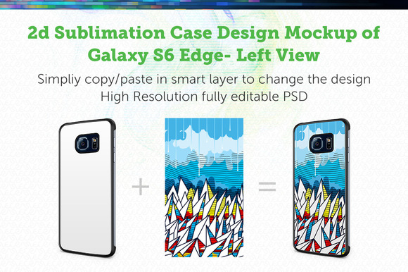 GalaxyS6 Edge 2d Sublimation Mockup