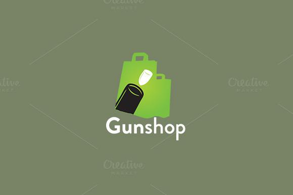Gun Gunshop Logo Template