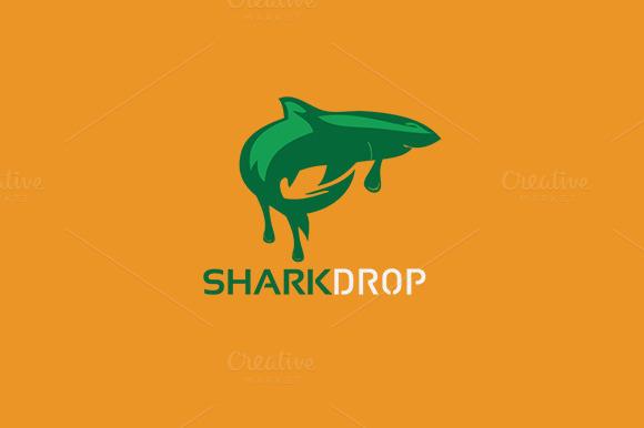 Fish Sharkdrop Logo Template