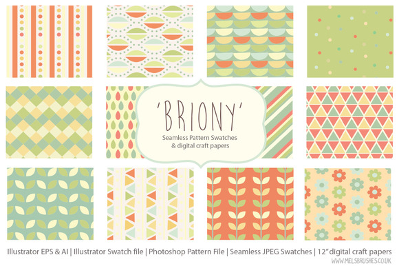 Briony Seamless Pattern Collection