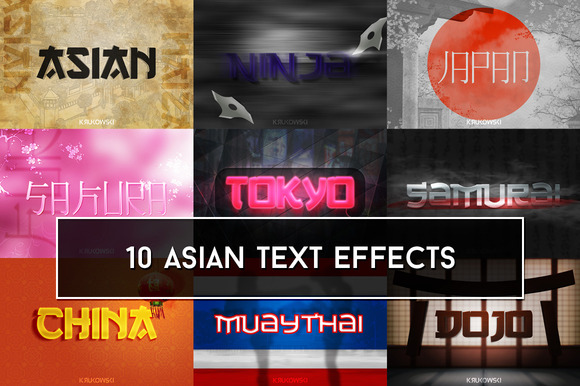 Asian Text Effects