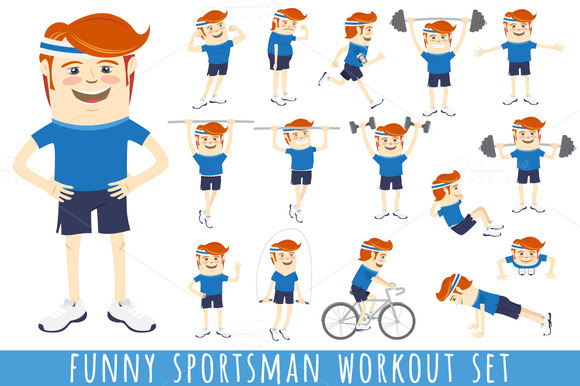 Funny Sportsman Workout Set