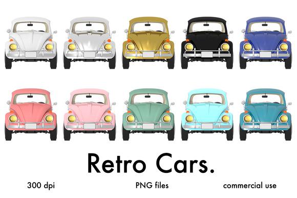 Retro Car Clip Art Graphics