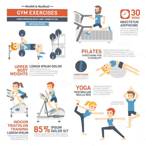 Gym Exercises Infographics