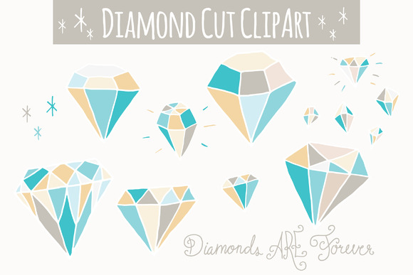 Blue Diamonds Clip Art Vector