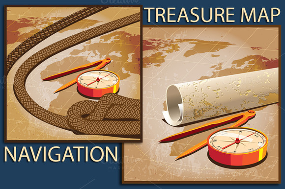 Navigation Treasure Map