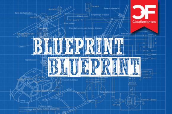 CF Blueprint Font