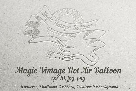 Magic Vintage Hot Air Balloon