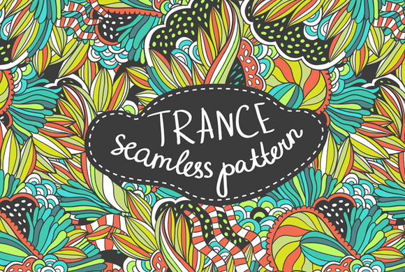 Handdrawn Seamless Trance Pattern