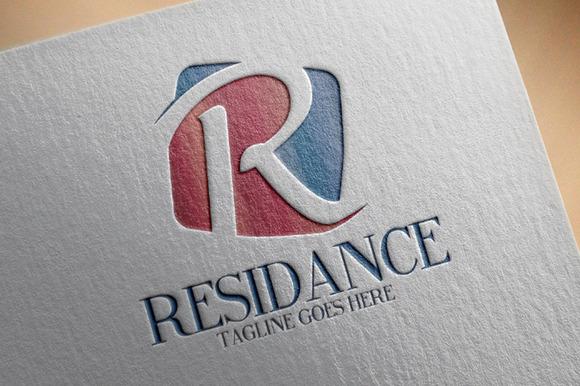 Residance R Letter Logo