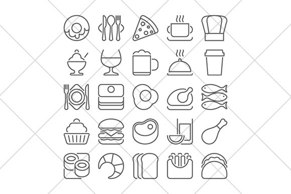Food Line Icons