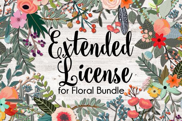 Extended License For Floral Bundle