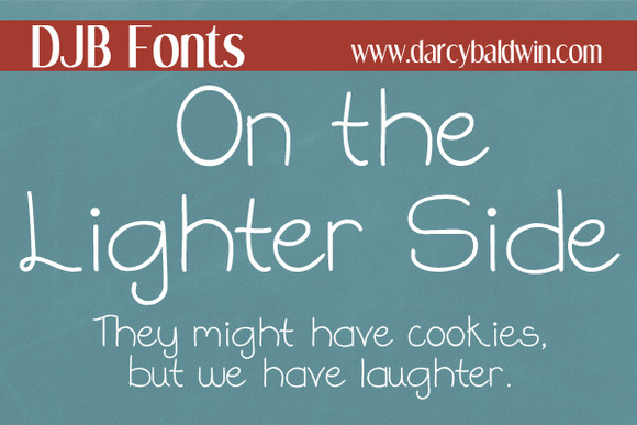 DJB On The Lighter Side Font
