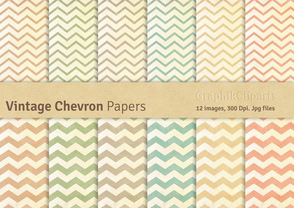 Vintage Chevron Digital Papers
