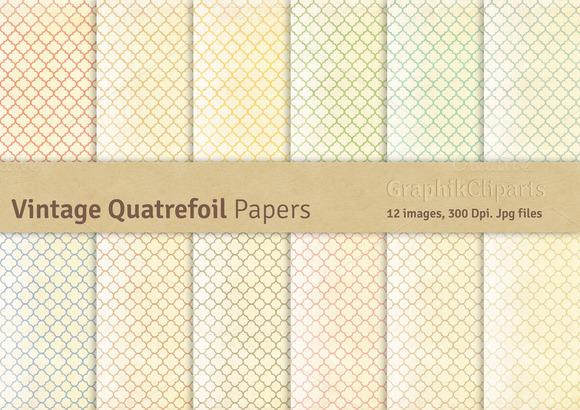 Vintage Quatrefoil