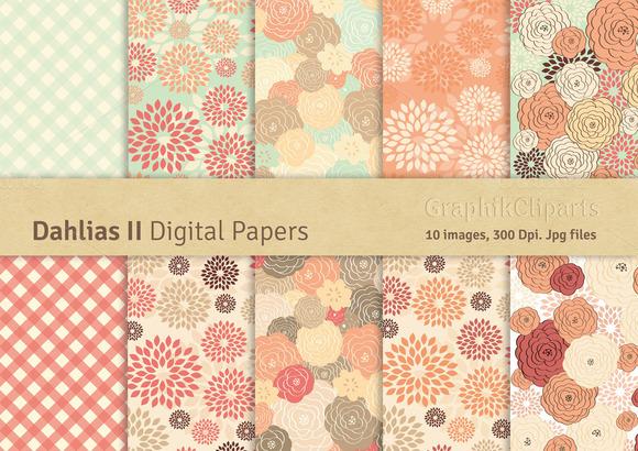 Dahlias II Digital Papers