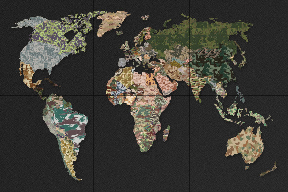 Political Camouflage Map
