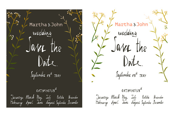 Rustic Save The Date Invitation Card