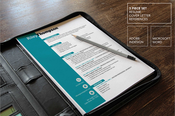 Teal Teacher Resume Template