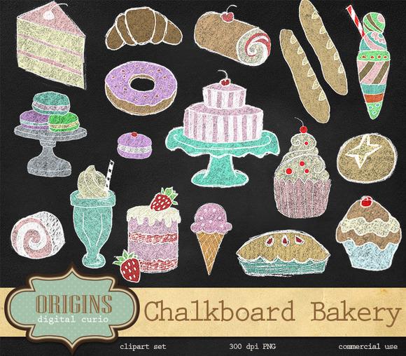 Chalkboard Bakery Clipart