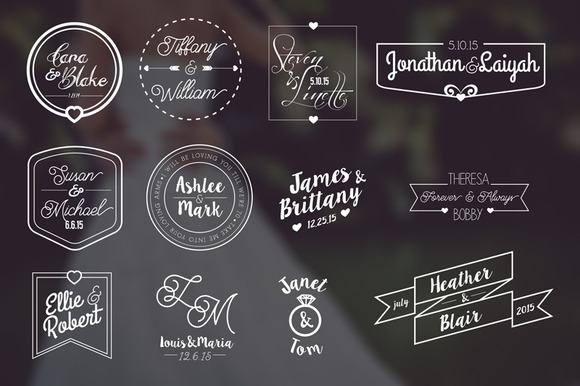 12 Modern Wedding Labels Bonus
