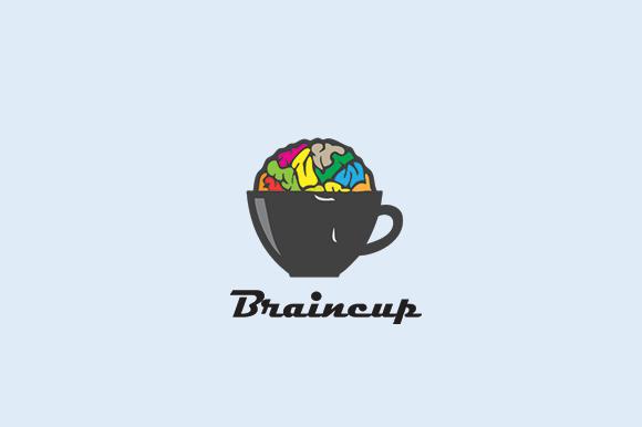 Brain Briancup Logo Template