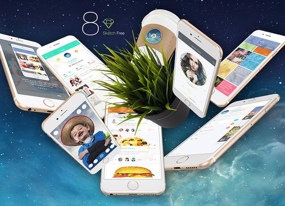 8 For Sketch Mobile UI Kit Mini