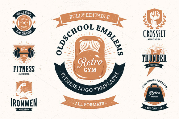 Retro Gym Emblems Pack