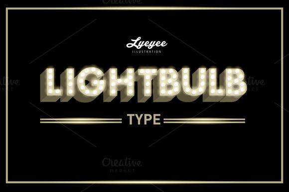 Lightbulb Font Typeface
